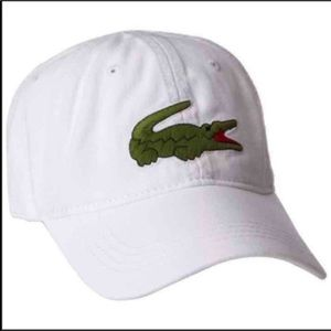 New Lacoste Unisex White Hat Cap